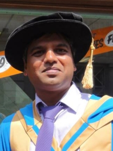 Kapilan Radhakrishnan graduating from his PGCE